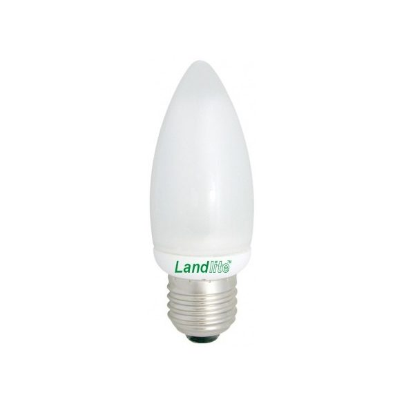 LANDLITE EIC/M-7W E27 230V 2700K 8000 hour, candle form, CFL (energy saving lamp)
