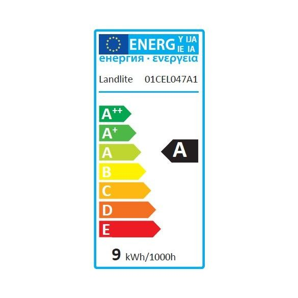 LANDLITE Energy saving, E27, 9W, 415lm, 2700K, pear shaped bulb (EI/M-9W)