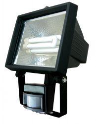 LANDLITE SL-F118-24W, 1X24W 118mm/R7s, reflector (CFLs included), with motion sensor, black