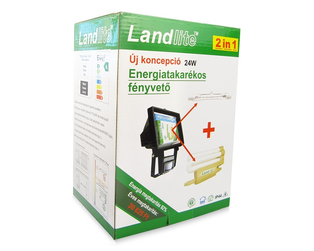 Landlite Sl F118 24w 1x24w 118mm R7s Reflector Cfls