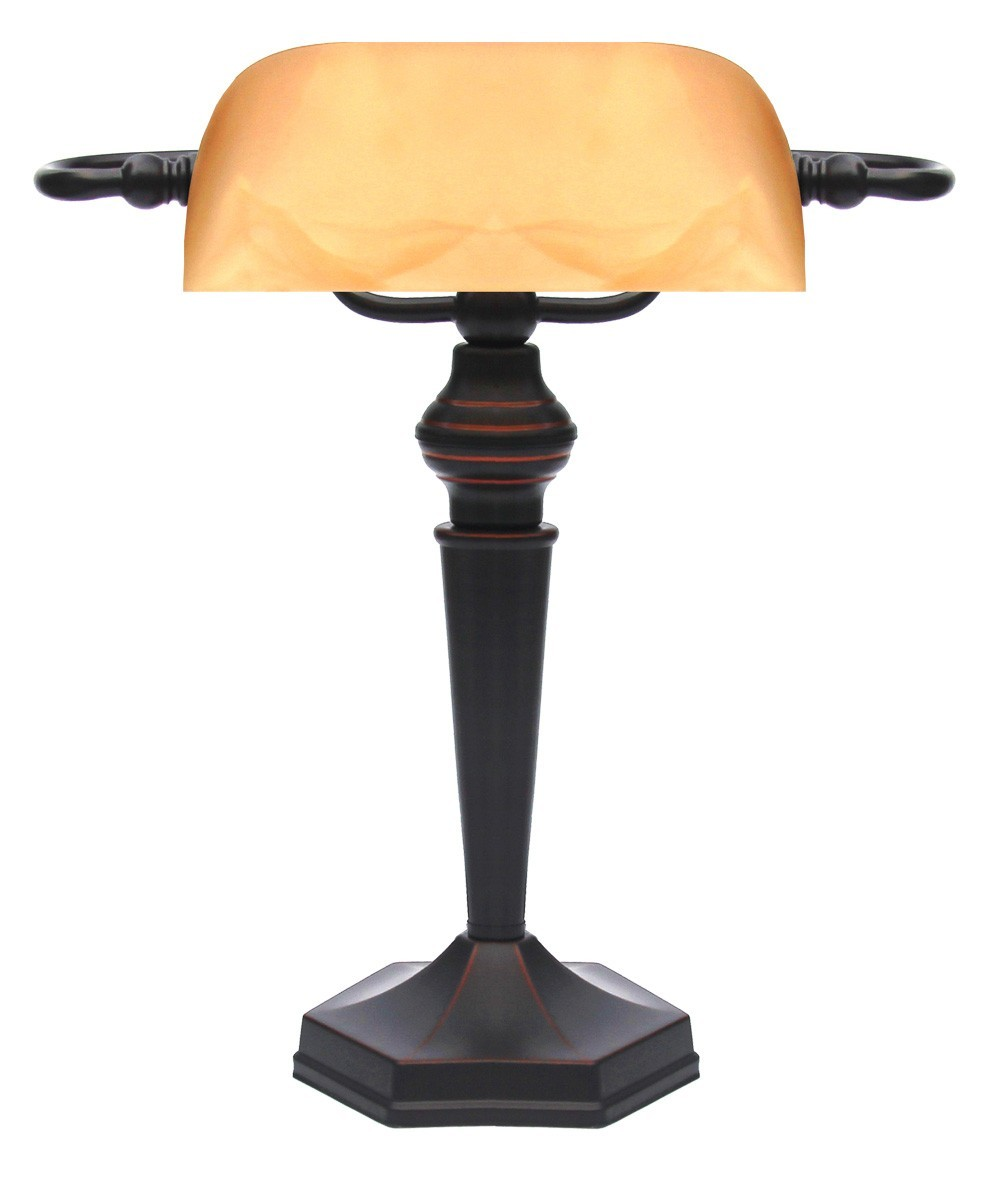 Landlite tl609 e27 max 60w desk lamp table lamp banker lamp landlite tl609 e27 max 60w desk lamp table lamp banker lamp bankers lamp with amber colored glass shade aloadofball