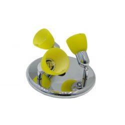 LANDLITE CLE-230A spot lamp, 3x60W, yellow shade, chrome