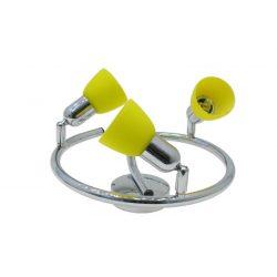 LANDLITE CLE-430A spot lamp, 3x60W, yellow shade, chrome