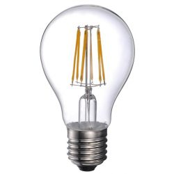 LANDLITE LED filament, E27, 10W, A60, 1055lm, 2700K, pear shaped bulb (LED-A60-10W/FLT)