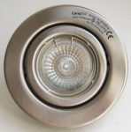 LANDLITE KIT-60-5, 5pcs MR16 20W 12V halogen lamp 80mm, rotateable design, mat chrome