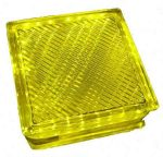 LANDLITE LED-G10-1x2W, yellow LED Crystalbrick lamp