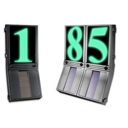 LANDLITE SY-B239 Solar powered, illuminated LED address sign