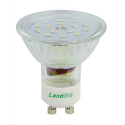 LANDLITE LED-GU10/21  1.5W 230V, warmwhite, LED lamp, in different colors