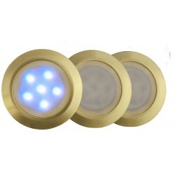 LANDLITE LED-GR01-3x1,2W, 3pcs SET, transformer, metallic colors: gold, matte, LED color: 7 color changing, I