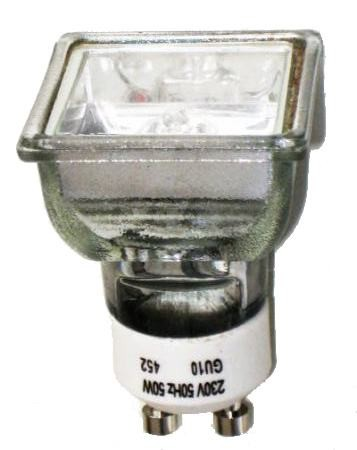 Landlite 230v Halogen Lamp Mrg C 230v Gu10 Square 50w