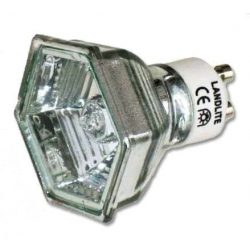 LANDLITE 230V halogen lamp, MRG-C 230V GU10 HEXAGON 50W