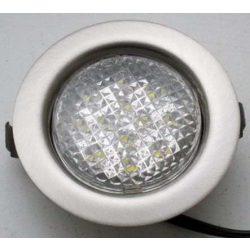 LANDLITE LED-06D-3X1,0W, 3pcs 1,0W LED 12V, downlight KIT (3 pcs-os LED KIT), LED: white, lámpa:mat chrome