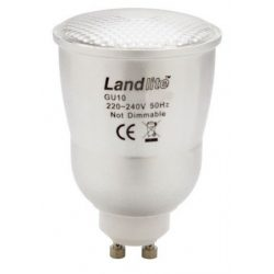 LANDLITE CFL-GU10-10W GU10 230V 8000 hour, 2700K, CFL (energy saving lamp)