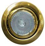 LANDLITE KIT-60-3, 3pcs 7W GU10 230V white CFL (energy saving lamp), rotateable design, downlight KIT brass