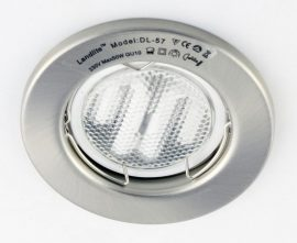 LANDLITE KIT-57-3, 3pcs 7W GU10 230V white CFL (energy saving lamp), fix design, downlight KIT (3 pcs-os KIT)