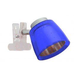 LANDLITE FELIX G929-1C multi-color, clip-mounted spot light (chrome blue)