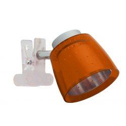 LANDLITE FELIX G929-1C multi-color, clip-mounted spot light (chrome orange)