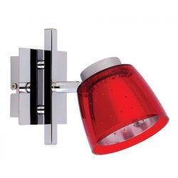 LANDLITE FELIX G929-1R multi-color, wall-mounted spot light (chrome red)