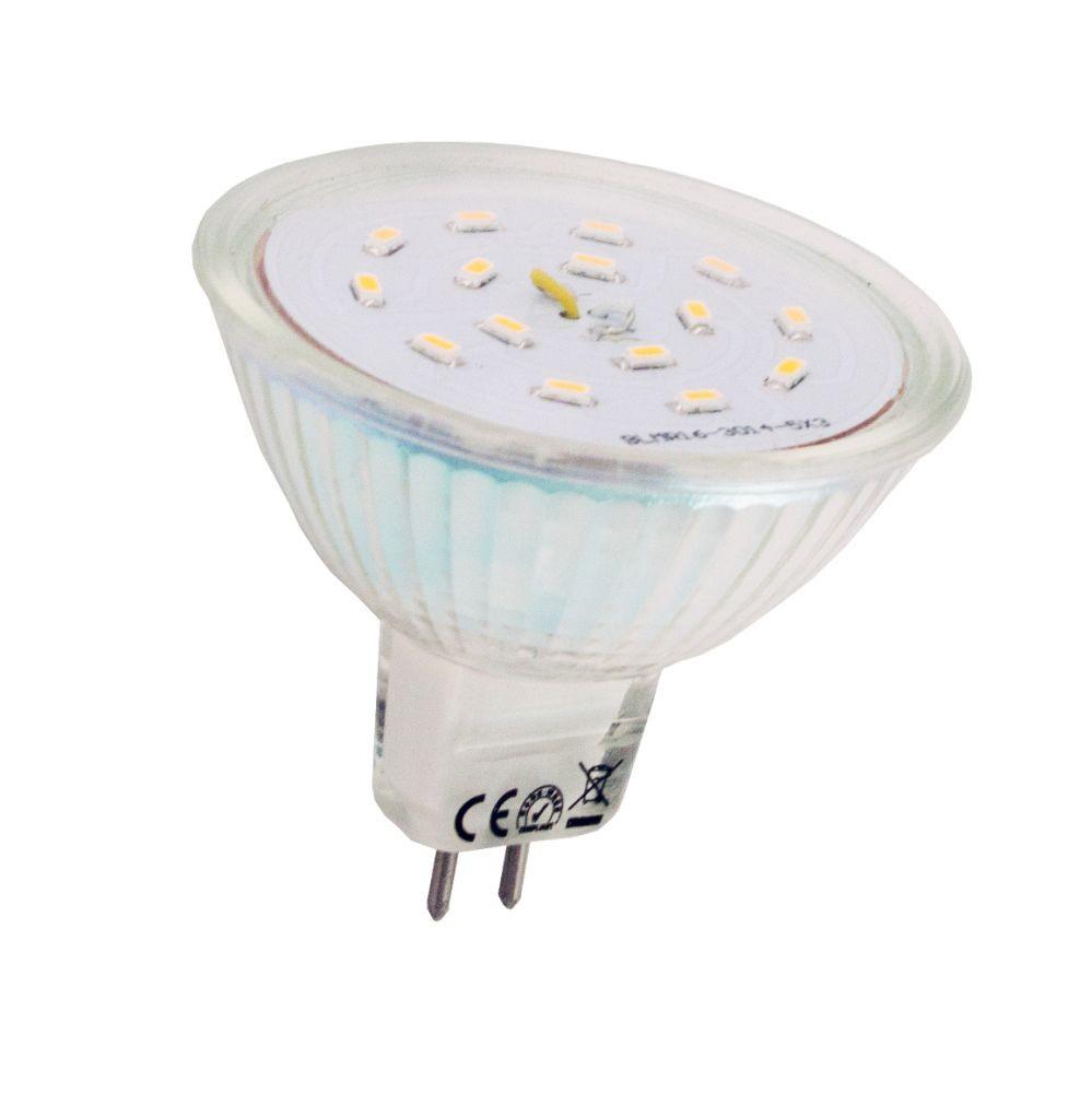 LANDLITE LED-MR16 12V SMD AC/DC 1.5W GU5.3 warmwhite LED lamp ...