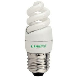 LANDLITE ELH/M-5W E27 230V, 8000 hour, 2700K, mini spiral, CFL (energy saving lamp)