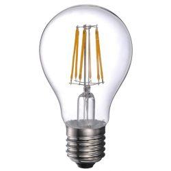 LANDLITE LED filament, E27, 8W, A60, 800lm, 2700K, pear shaped bulb (LED-A60-8W/FLT)