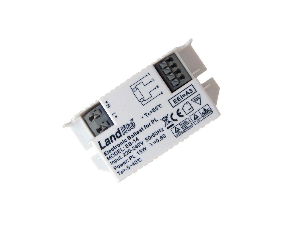 Landlite Eb 14 Electronic Ballast For 1x Pl 13w 4 Pin