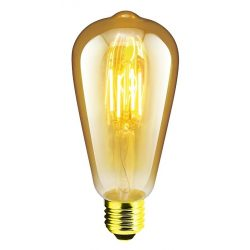 LANDLITE RUB-ST64-4W/FLT E27, 1700K , decorative LED lamp
