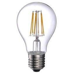 LANDLITE LED filament, E27, 6W, A60, 600lm, 2700K, pear shaped bulb (LED-A60-6W/FLT)