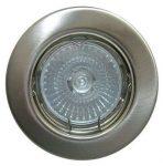LANDLITE KIT-57A-3, 3pcs 50W GU10 230V halogen lamp, fix design, downlight KIT (3 pcs halogen KIT), chrome