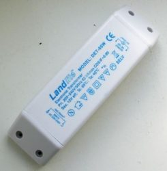 LANDLITE dimmable electronic transformer, DET-65VA, Max 65VA, for load 20-60W, 220-240V~AC/11.6V~AC