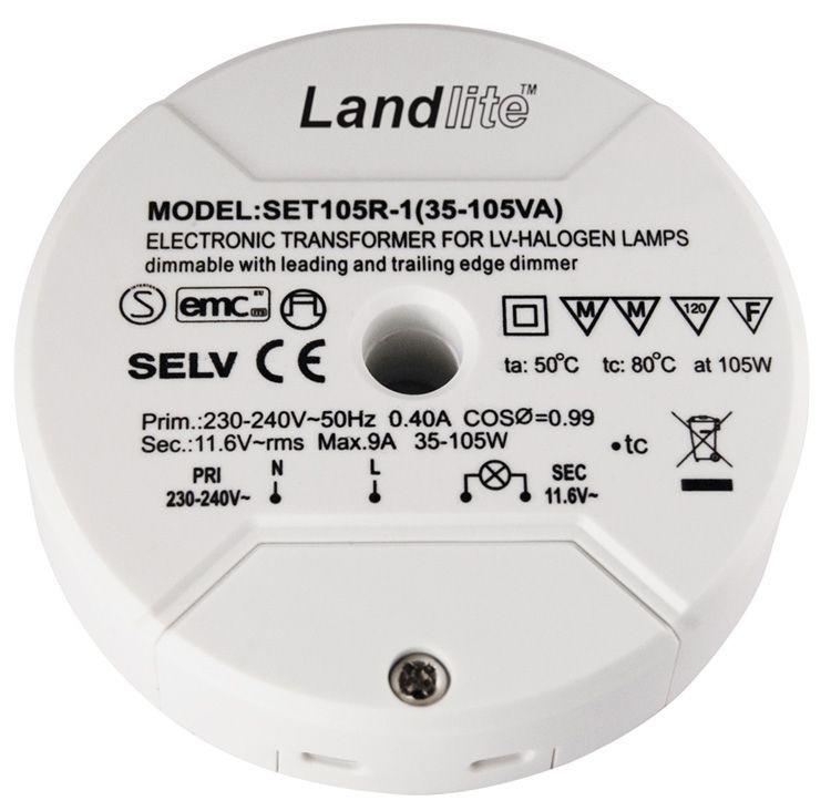 Landlite Set105r 1 Electronic Transformer For Low Voltage