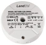 LANDLITE SET105R-1 Electronic transformer for low-voltage halogen lamps