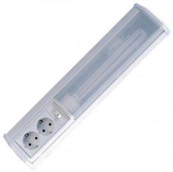 LANDLITE EBL3021-11W, 1xPL/G23-11W, with switch, 2x jack, fluorescent wall lamp