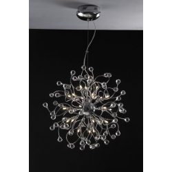LANDLITE MONACO, MD2184/24, 24XG4 12V 10W halogen,chrome, crystal lamp