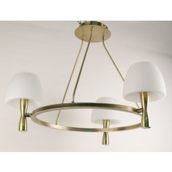 LANDLITE MW-5362/3C-S-C, antique bronze, round glass, Ceiling Lights