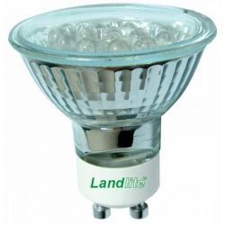 LANDLITE LED-GU10/21 1.0-1.5W 230V, warmwhite, LED lamp, in different colors