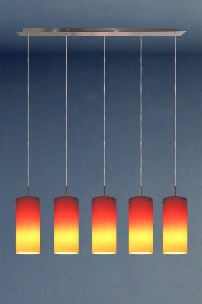 Landlite Redell 5p 5x100w E27 230v Pendant Lamp