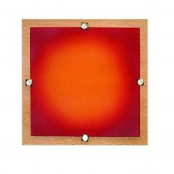 LANDLITE MELIA 23 cm  1xG9 40W 230V  wall/ceiling lamp - wood / colored glass