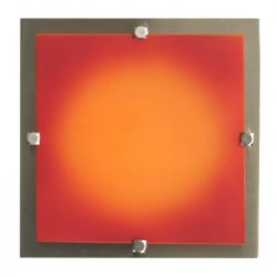 LANDLITE MELIA 23 cm  1xG9 40W 230V  wall/ceiling lamp nickel / colored glass