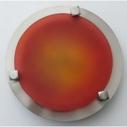 LANDLITE MELISSA D16 modern wall / ceiling lamp 1xG9 40W 230V (nickel / red glass)