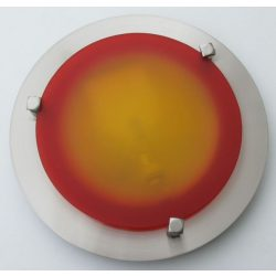 LANDLITE MELISSA D23 modern wall / ceiling lamp 1xG9 40W 230V (nickel / red glass)