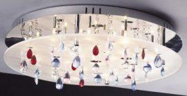 LANDLITE CASINO,MX2226/R-20, 20X10W G4 12V halogen, chrome/white akril, crystal lamp