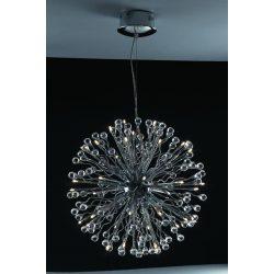 LANDLITE MONACO, MD2206/40, 40xG4 12V 10W halogen,chrome, crystal lamp