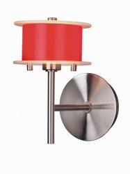 LANDLITE REFORMO W6026/1L red, 1XG9 60W 230V, wall lamp