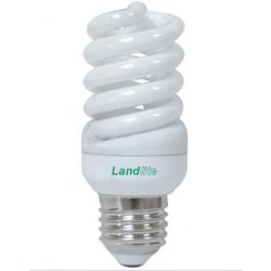 LANDLITE ELH/M-15W E27 230V, 8000 hour, 2700K, mini spiral, CFL (energy saving lamp)