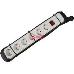 ANCO Table socket 6 way with switch, 2m