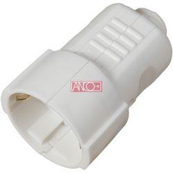 ANCO Grounding PVC socket, white