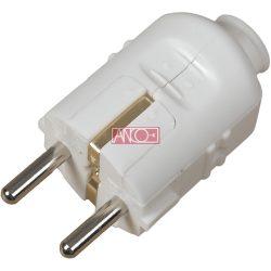ANCO Grounding PVC plug central, white