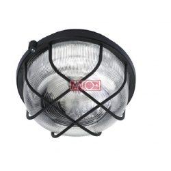 ANCO Plastic round lamp, black, 100W