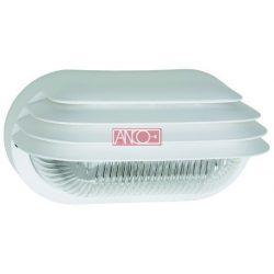 ANCO Plastic oval lamp, white, 60W